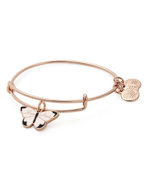 Alex and Ani - Mon Ami Butterfly Expandable Wire Bangle