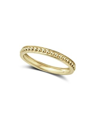 Caviar Gold Collection 18K Gold Beaded Stacking Ring