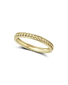 LAGOS Caviar Gold Collection 18K Gold Beaded Stacking Ring - Bloomingdale's_0