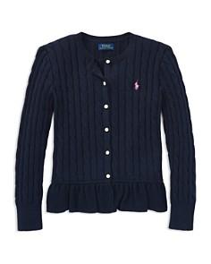 Polo Ralph Lauren Girls' Cotton Ruffled Cardigan - Little Kid - Bloomingdale's_0