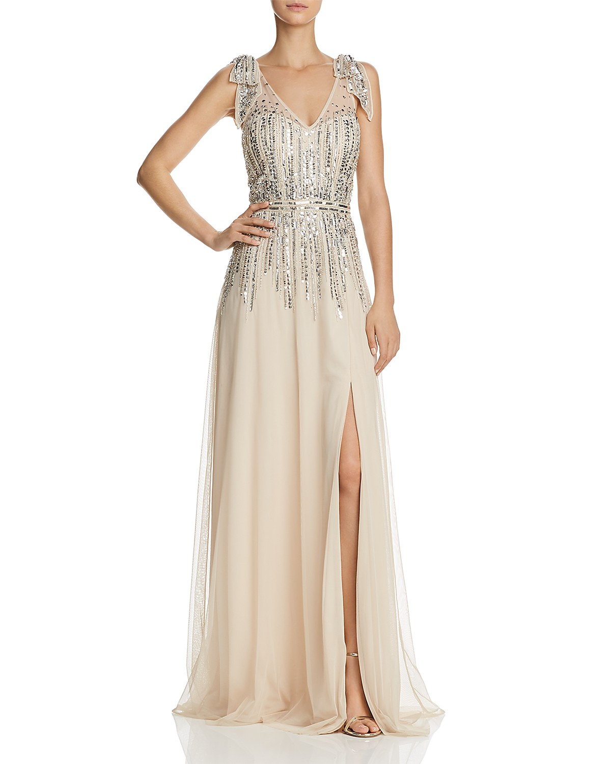 Aidan Mattox Sequined Tulle Gown- 100% Exclusive | Bloomingdale\'s