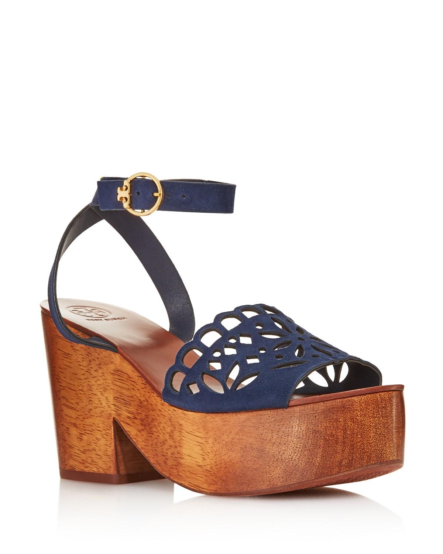 Tory Burch Women's May Suede Platform Block Heel Sandals - 100% Exclusive V35Sk9E1