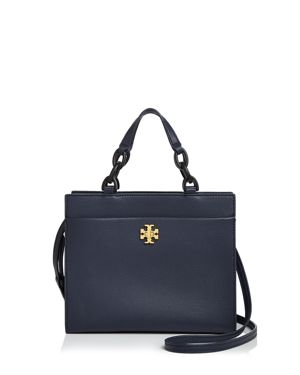 KIRA SMALL LEATHER TOTE - BLUE