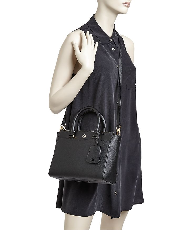 4639384c0 Tory Burch Robinson Small Double Zip Leather Tote | Bloomingdale's