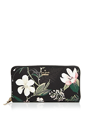 kate spade new york Cameron Street Botanical Lacey Saffiano Leather Wallet