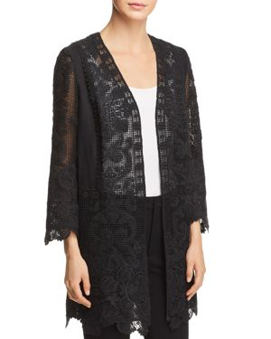 Kobi Halperin Mina Lace Open-Front Jacket