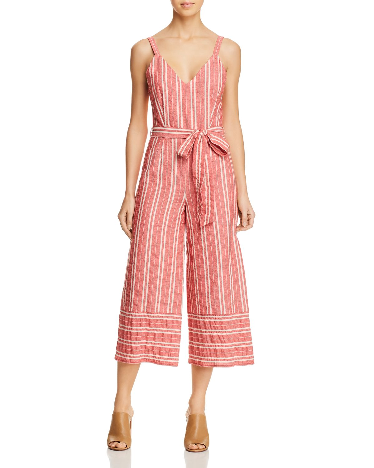 Robin Striped Wide Leg Jumpsuit by Lost And Wander