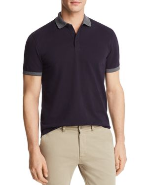 The Men's Store at Bloomingdale's Mini Pique Tipped Short Sleeve Polo Shirt - 100% Exclusive thumbnail