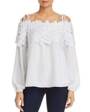 Michael Michael Kors Floral Lace Off-the-Shoulder Top - 100% Exclusive