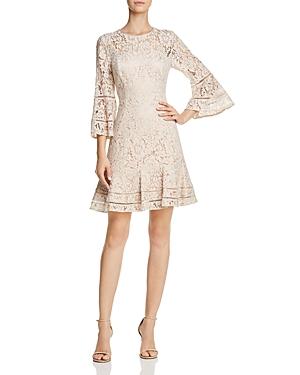 Eliza J Bell-Sleeve Lace Dress