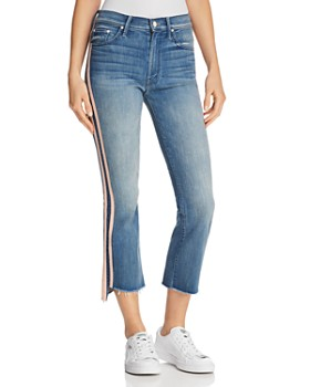 MOTHER - Insider Cropped Frayed-Ankle Jeans in Good Girls Race - 100% Exclusive