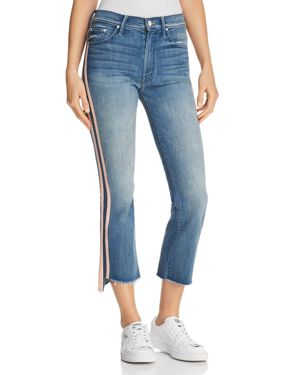 INSIDER CROPPED FRAYED-ANKLE JEANS IN GOOD GIRLS RACE - 100% EXCLUSIVE