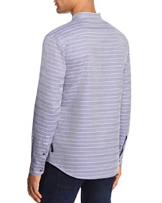 Armani - Chevron Striped Regular Fit Button-Down Shirt