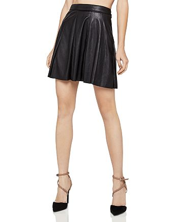 BCBGeneration - Faux Leather A-Line Skirt