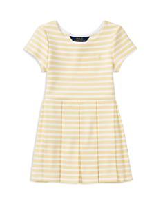 Polo Ralph Lauren Girls' Striped Pleated Dress - Big Kid - Bloomingdale's_0