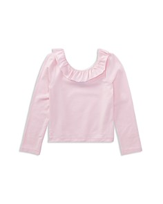 Polo Ralph Lauren Girls' Ruffled Off-the-Shoulder Tee - Little Kid - Bloomingdale's_0