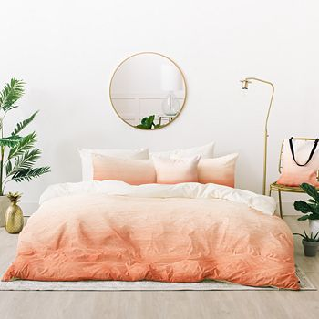 Deny Designs - Social Proper Peach Ombré Bed-in-a-Bags