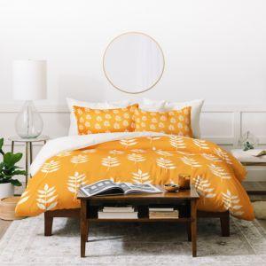 Deny Designs Joy Laforme Summer Garden Mini Leaf Duvet Cover Set, King