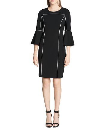 Calvin Klein - Piped Bell-Sleeve Dress