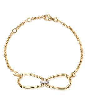 Roberto Coin - 18K White & Yellow Gold Classic Parisienne Diamond Bracelet - 100% Exclusive