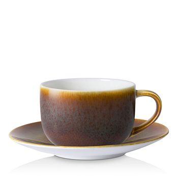 Royal Crown Derby - Art Glaze Flamed Caramel Espresso Cup