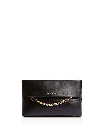 KAREN MILLEN - Chain Leather Clutch