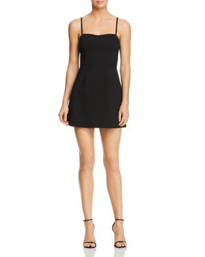 FRENCH CONNECTION Whisper Light Sweetheart Minidress in Black