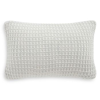 "Waterford - Florence Waffle Knit Decorative Pillow, 12"" x 18"""