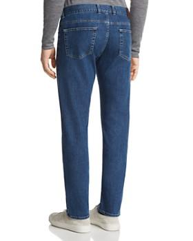 Canali - Stretch New Tapered Fit Jeans in Blue Denim