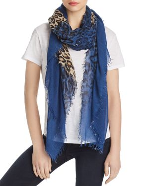 DELTA LEOPARD COLOR BLOCK SCARF