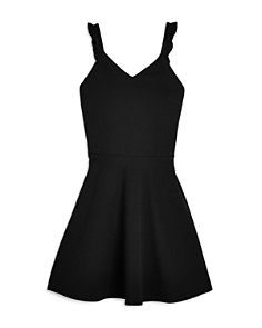 AQUA Girls' Textured Ruffle-Strap Dress, Big Kid - 100% Exclusive - Bloomingdale's_0