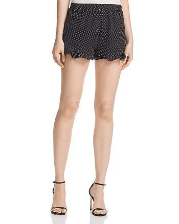 AQUA - Ruffle-Hem Polka Dot Shorts - 100% Exclusive