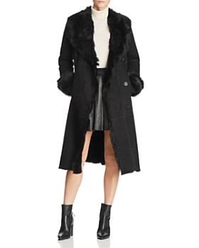Maximilian Furs - Shearling Coat with Toscana Shearling Shawl Collar  - 100% Exclusive