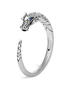 John Hardy Sterling Silver Legends Naga Small Kick Cuff with Sapphire Eyes - Bloomingdale's_0