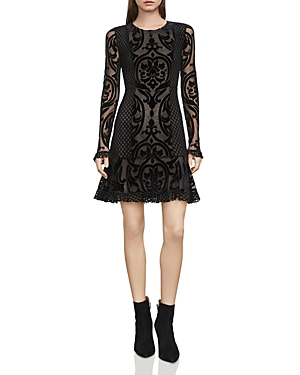 Bcbgmaxazria Guinevere Velvet Burnout Dress