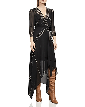 Bcbgmaxazria Samantha Printed Wrap Dress