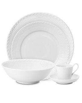 Royal Copenhagen - White Fluted Half Lace Dinnerware