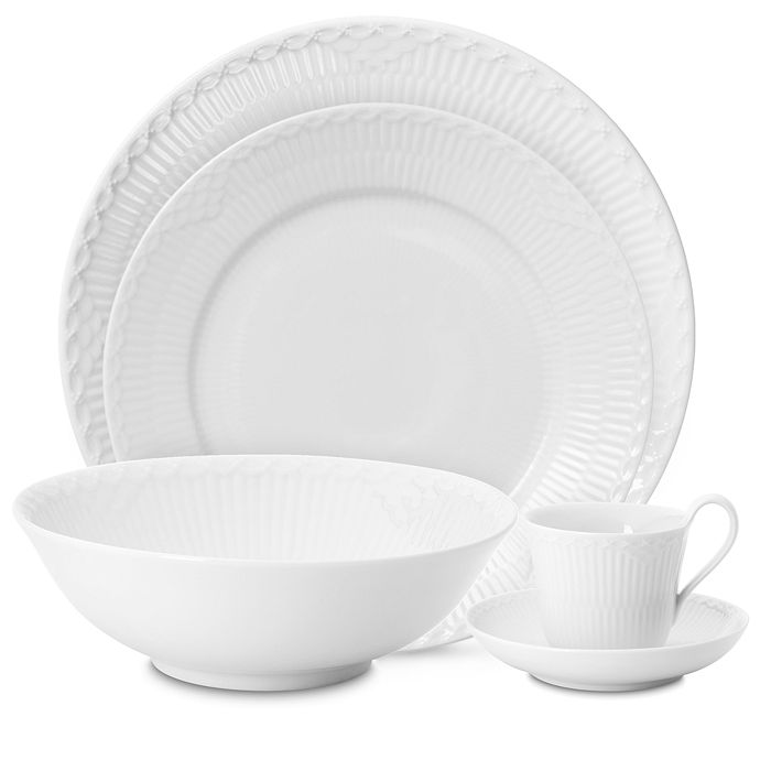 Royal Copenhagen - White Fluted Half Lace Dinnerware