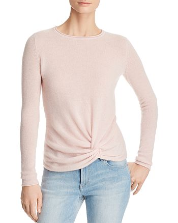 C by Bloomingdale's - Twist-Front Lightweight Cashmere Sweater - 100% Exclusive