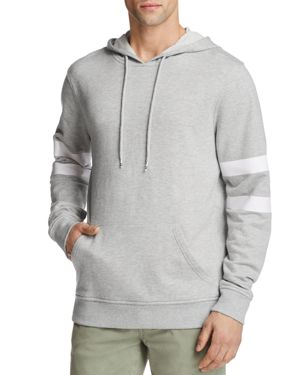 PACIFIC & PARK ARM STRIPE HOODED SWEATSHIRT