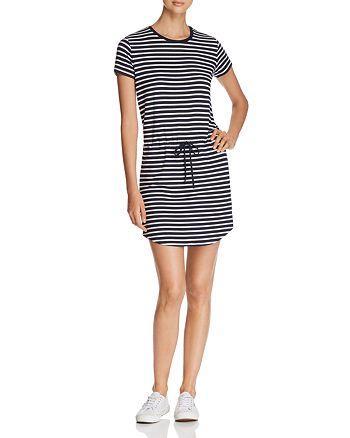 Majestic Filatures - Stripe Drawstring Mini Dress