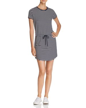 Majestic Filatures Stripe Drawstring Mini Dress