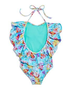Peixoto - Girls' Isabela Floral Oversize-Ruffle Swimsuit - Little Kid
