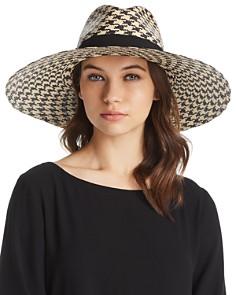 Marzi Houndstooth Wide Brim Panama Hat - Bloomingdale's_0