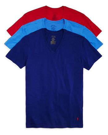 f33cba4b Polo Ralph Lauren Classic Fit V-Neck Tee, Pack of 3   Bloomingdale's