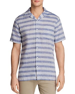 Onia Vacation Striped Short Sleeve Button-Down Shirt