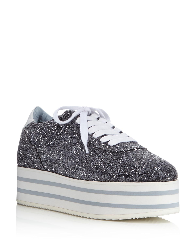 Chiara Ferragni Women's Glitter Platform Lace Up Sneakers QNTCn4siw