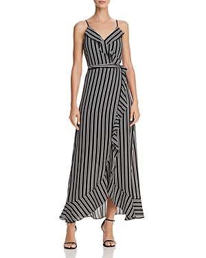Aqua Striped Faux-Wrap Maxi Dress - 100% Exclusive