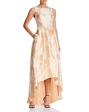 Adrianna Papell Jacquard High/Low Ball Gown - 100% Exclusive