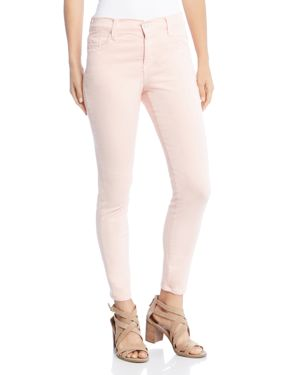 Karen Kane Zuma Cropped Skinny Jeans in Rose 2858328
